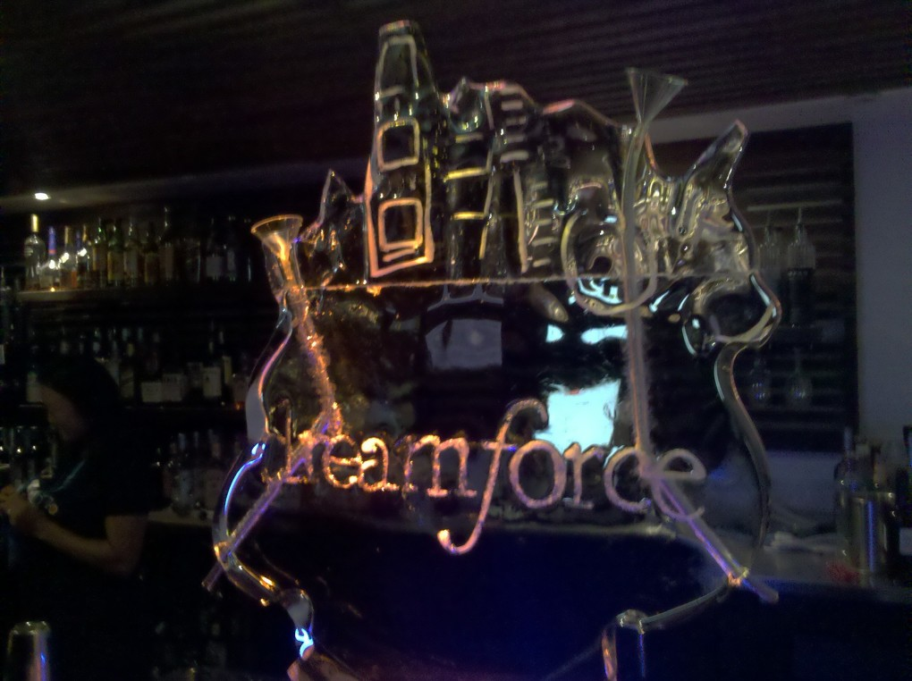 Dreamforce Vodka Ice Sculpture