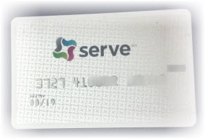 Serve White Prepaid Card