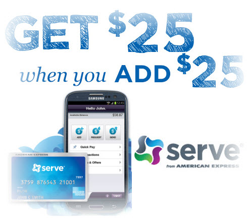 Serve $25 for Free Promotion