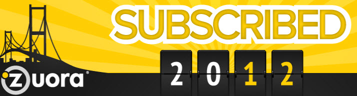 Zuora Subscribed 2012 Conference Free