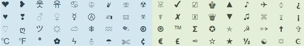 Text icon symbol examples