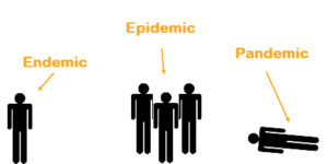 Endemic vs epidemic vs pandemic