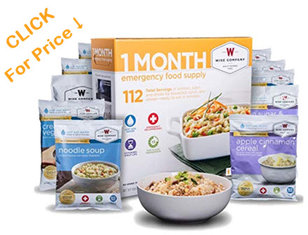 One month emergency food supply