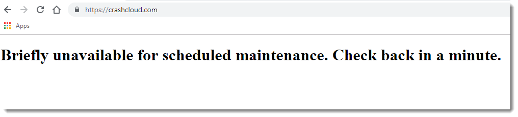 How to fix briefly unavailable for scheduled maintenance check back in a minute error